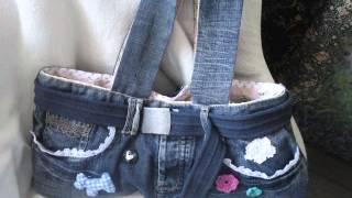 getlinkyoutube.com-Ideas para reciclar pantalones vaqueros usados