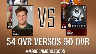 56 Overall CRUSHES 90 Overall :- Madden Mobile Gameplay