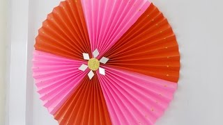 getlinkyoutube.com-DIY Crafts : Super Easy Home Decor Idea - Rosette Making Tutorial