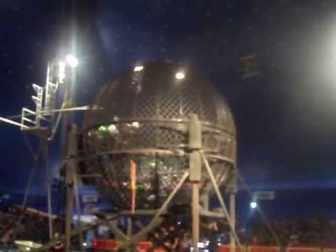 █▬█▬█ Motorcycle Ball Of Death Circus Globe of Death Steel Ball Stunt سيرك صراع مع الموت 2