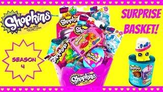 getlinkyoutube.com-SHOPKINS Season 4 Easter Basket Surprise - Eggs, Food Fair, Blind Baskets!