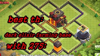 getlinkyoutube.com-Clash of Clans - TH 10 Farming base - Dark Elixir Protecting Base - With 275 walls