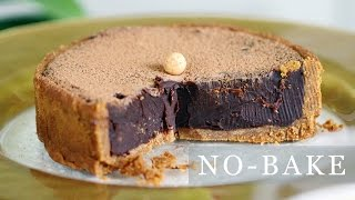 getlinkyoutube.com-No-Bake Chocolate Pie Recipe - 5-Ingredient Tart 초코타르트 만들기