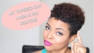 getlinkyoutube.com-Natural Hair | Tapered Cut Wash & Go Routine Using Shea Moisture