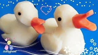 getlinkyoutube.com-Art In Potato Duck | Vegetable Carving Garnish (Italypaul)