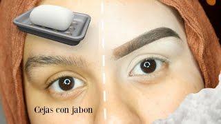 getlinkyoutube.com-Tutorial de Cejas con Jabon! Técnica Nueva!!!