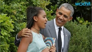 getlinkyoutube.com-Barack Obama Joins Malia and Sasha in New York for Some Father-daughter Time