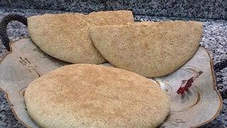 getlinkyoutube.com-خبز الدار المغربي دقيق كامل بالطريقة التقليدية السهلة Pain marocain traditionnel