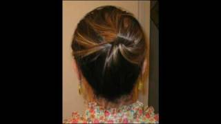 getlinkyoutube.com-Quick Hair Trick: Updo without any hair ties, clips, & pins!