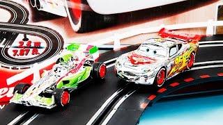 cars stunt racers double decker speedway race track set lightning