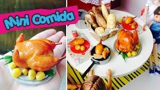 Como fazer um Frango Assado para Barbie e outras bonecas (mini comida)