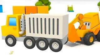 getlinkyoutube.com-Cartoni animati per bambini - L' Escavatore Max ed il camion container