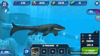 getlinkyoutube.com-Jurassic world the game:DUNKLEOSTEUS/PROGNATHODON