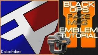 Faze MLG Logo (EASY): Call of Duty Black Ops 2 Emblem Tutorial
