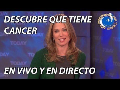 PRESENTADORA DE TV DESCUBRE QUE TIENE CANCER EN VIVO