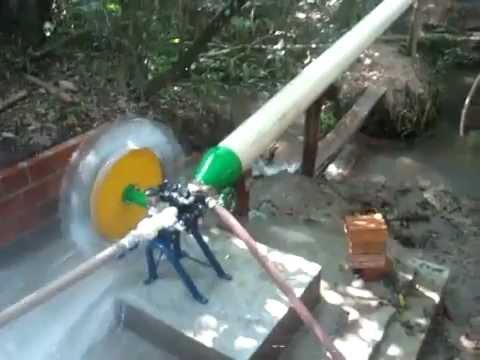 Roda d'agua Alterima turbo bomba irrigação, Energia Renovavel