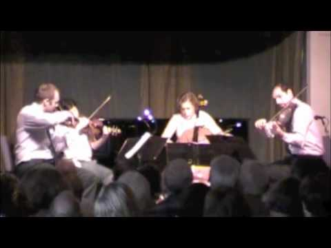 Berg Lyric Suite part 1 Jasper Quartet Chamber Music Northwest July 18, 2010