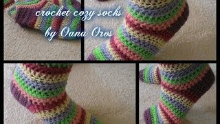 getlinkyoutube.com-crochet cozy socks