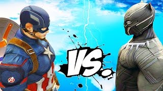 getlinkyoutube.com-Captain America vs Black Panther - Epic Superheroes Battle