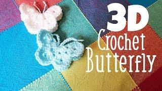 getlinkyoutube.com-DIY 3D Crochet Butterfly How To Tutorial ¦ The Corner of Craft
