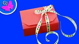 getlinkyoutube.com-Оригами коробочка для подарка (Origami gift box)