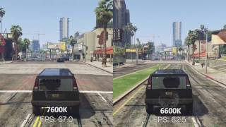 getlinkyoutube.com-i5 7600K Kaby Lake vs i5 6600K Sky Lake GTAV Benchmark (Side By Side Comparison)