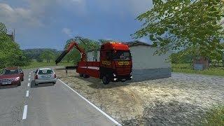 getlinkyoutube.com-Farming Simulator 2013: Mercedes-Benz Actros with Palfinger pk 34002 sh