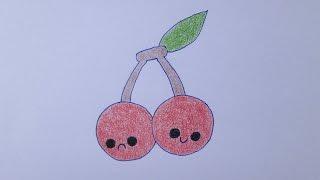 getlinkyoutube.com-Como desenhar cerejas