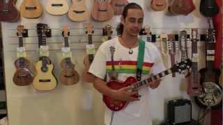 """getlinkyoutube.com-Risa """"Les Paul"""" Styled Electric Ukulele Demo! - Ukulele PUAPUA"""