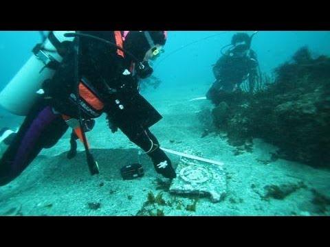 海底に「三葉葵」の瓦 静岡・熱海沖で発見