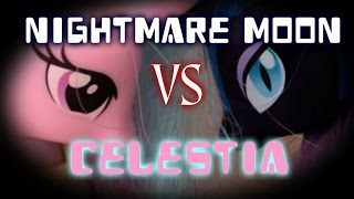 getlinkyoutube.com-MLP - Nightmare Moon VS Princess Celestia (Toys Version)