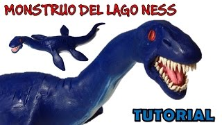 Como hacer un dinosaurio plesiosaurio de Plastilina / How to make a dinosaur plesiosaur with clay