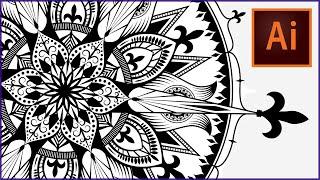 getlinkyoutube.com-How to draw a MANDALA in ADOBE ILLUSTRATOR | Speedpaint | SwanStarDesigns