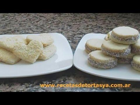 Galletitas de coco y Alfajores de coco y dulce de leche - Cookies de coco - Recetas de Tortas YA!