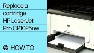 getlinkyoutube.com-Replacing a Cartridge - HP LaserJet Pro CP1025nw Color Printer