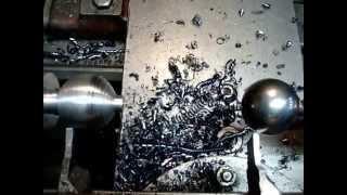 getlinkyoutube.com-Супер метод Как выточить шар на токарном станке. Метод копира