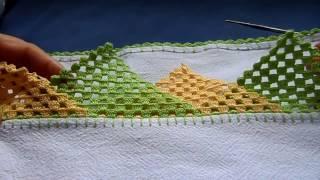 getlinkyoutube.com-Bico em crochê com triângulos