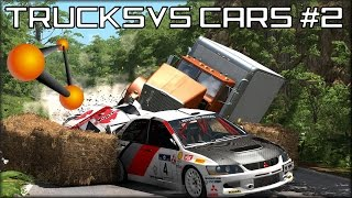 getlinkyoutube.com-BeamNG Drive Trucks Vs Cars #2