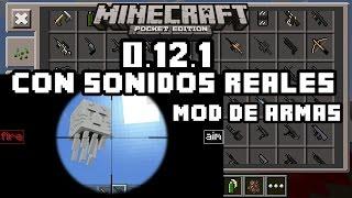 getlinkyoutube.com-MINECRAFT PE 0.12.1- MOD DE ARMAS CON - SONIDOS REALES