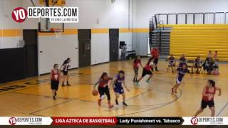 Lady Punishment vs. Tabasco Liga Azteca de Basketball