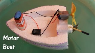 getlinkyoutube.com-How to make an Electric Boat using Thermocol and DC motor