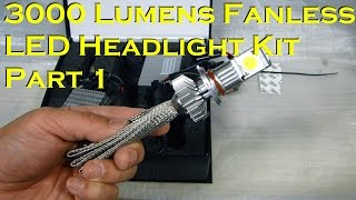 getlinkyoutube.com-3000 Lumens 25 Watt LED Headlight Kit - New Fanless - Part 1
