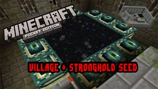 getlinkyoutube.com-Minecraft PE: ENDER PORTAL SEED WITH VILLAGE!