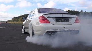 getlinkyoutube.com-Mercedes-Benz S63 AMG Burnout, Revs, Accelerations!