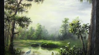 getlinkyoutube.com-Oil Painting Sunlight on the Swamp - Paint with Kevin Hill