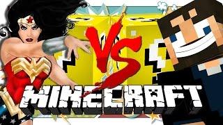 getlinkyoutube.com-Minecraft: HERO LUCKY BLOCK CHALLENGE | Derp SSundee vs Wonder Woman