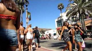getlinkyoutube.com-Huntington Beach girls PCH Bike cam