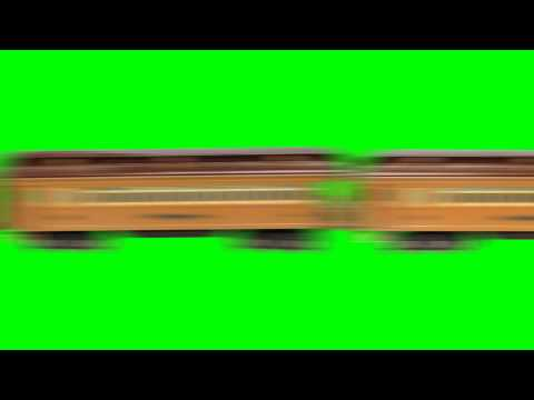 Train Passing By - Animation Green Screen