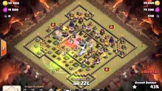 getlinkyoutube.com-Clash of Clans TH11. War attack with Eagle Artillery and Grand Warden