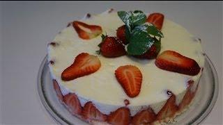 getlinkyoutube.com-Recette facile et rapide du fraisier allégé (CUISINERAPIDE)